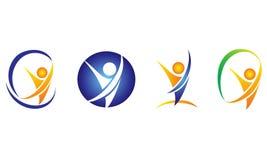 Elementos estilizados do esporte e da atividade ilustração do vetor