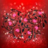Elementos felices del día de tarjetas del día de San Valentín y del diseño del weeding Fotografía de archivo