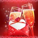 Elementos felices del día de tarjetas del día de San Valentín y del diseño del weeding Foto de archivo libre de regalías