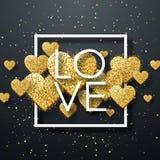 Elementos felices del día de tarjetas del día de San Valentín y del diseño del weeding Ilustración del vector Fondo rosado con lo Fotografía de archivo