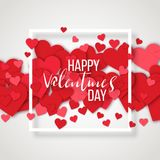 Elementos felices del día de tarjetas del día de San Valentín y del diseño del weeding Ilustración del vector Fondo rosado con lo Fotografía de archivo libre de regalías