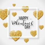 Elementos felices del día de tarjetas del día de San Valentín y del diseño del weeding Ilustración del vector Fondo rosado con lo Foto de archivo