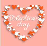 Elementos felizes do dia de Valentim e do projeto da remoção de ervas daninhas Illustr do vetor imagem de stock