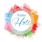 Elementos felizes do holi para o projeto de cartão, projeto feliz do holi Ilustração do fundo feliz colorido abstrato de Holi ilustração stock