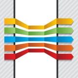 Elementos fijados flechas coloridas del diseño del vector Imagen de archivo