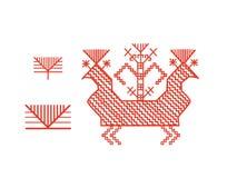 Elementos finlandeses del diseño del ornamento Fotos de archivo