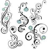 Elementos florais Imagem de Stock