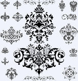 Elementos florais Imagens de Stock Royalty Free