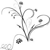 Elementos florais Imagens de Stock