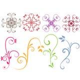 Elementos florais ilustração stock