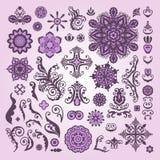 Elementos florais abstratos do projeto da ilustração no fundo branco Foto de Stock Royalty Free