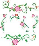 Elementos florais da mola Foto de Stock Royalty Free