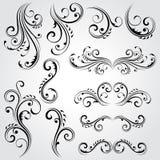 Elementos florais decorativos Imagens de Stock Royalty Free