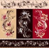 Elementos florais decorativos ilustração stock