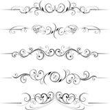 Elementos florais decorativos do redemoinho Imagens de Stock