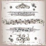 Elementos florais do frame do projeto Imagens de Stock