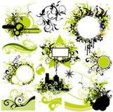 Elementos florais do projeto ilustração royalty free