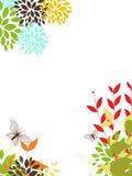 Elementos florais do projeto Foto de Stock Royalty Free