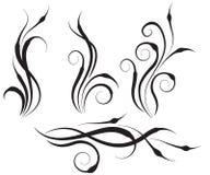 Elementos florais do projeto do redemoinho Fotografia de Stock Royalty Free