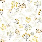 Elementos florais do teste padrão sem emenda do vetor Fotos de Stock