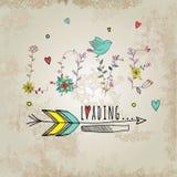 Elementos florais do vintage O amor da frase é você dentro Imagem de Stock