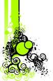 Elementos florais verdes ilustração stock
