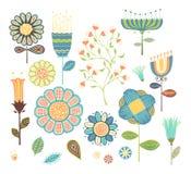 Elementos florales ilustración del vector