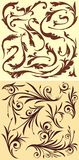 Elementos florales Imágenes de archivo libres de regalías