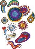 Elementos florales abstractos ornamentales Foto de archivo libre de regalías