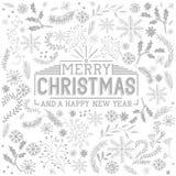 Elementos florales de la Navidad Imágenes de archivo libres de regalías