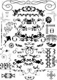 Elementos florales del marco imágenes de archivo libres de regalías