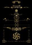 Elementos florales del marco Foto de archivo libre de regalías