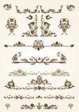 Elementos florales del marco Fotos de archivo libres de regalías