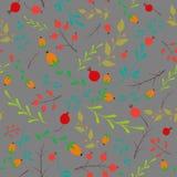 Elementos florales del modelo inconsútil del vector Fotos de archivo