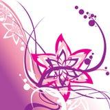 Elementos florales del remolino stock de ilustración