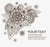 Elementos florales dibujados mano del extracto del vector ilustración del vector