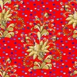 Elementos florales ornamentales con el tatuaje de la alheña ilustración del vector