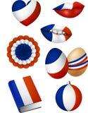 Elementos franceses da bandeira Fotografia de Stock Royalty Free
