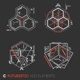Elementos futuristas de HUD ilustração do vetor