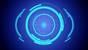 Elementos futuros del holograma libre illustration