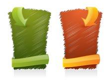 Elementos garabateados del estilo del Web - publicidad de la bandera Imagen de archivo libre de regalías