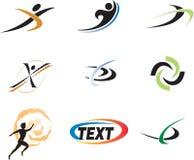 Elementos genéricos do projeto do logotipo Fotografia de Stock Royalty Free