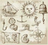 Elementos geográficos del diseño Fotografía de archivo libre de regalías