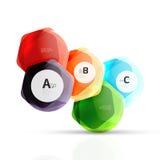 Elementos geométricos do aqua do hexágono Imagem de Stock Royalty Free