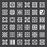 Elementos geométricos do vetor Imagens de Stock Royalty Free