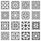 Elementos geométricos do vetor Fotos de Stock