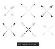 Elementos geométricos tribais Minimalismo tribal Imagens de Stock Royalty Free