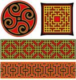 Elementos gráficos chinos Imagen de archivo libre de regalías