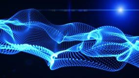 Elementos gráficos do movimento azuis onda gráfica a forma é partículas ilustração stock