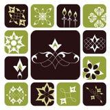 Elementos gráficos ornamentales Imágenes de archivo libres de regalías